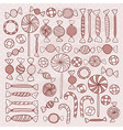 Sketch Candies Sweets Hand Drawn Objects Set vector image