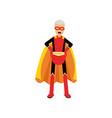 super grandfather senior man superhero wearing vector image vector image