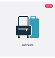 two color suitcases icon from travel concept vector image
