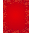valentine red background with frame of hearts vector image vector image