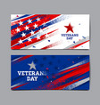 veterans day background usa flag abstract vector image