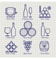 Wine line icons set vector image vector image