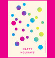 winter holidays greeting card vector image vector image
