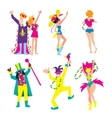 Carnival characters people vector image