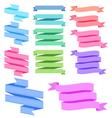 colorful ribbon set vector image