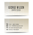 Business card gold vector image