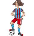 football player cartoon vector image