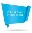blue origami speech bubble vector image