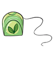 A green floss holder vector image vector image