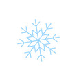 a snowflake of winter icon vector image vector image