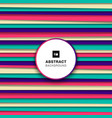 abstract colorful striped horizontal line vector image