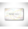 Abstract gift Card with colorful lines vector image vector image