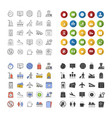 airport service icons set vector image