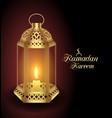 arabic realistic lantern for ramadan kareem vector image