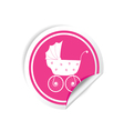 baby carriage sticker vector image