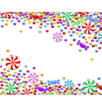 background of candies vector image vector image