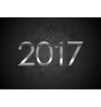 Black New Year 2017 abstract background vector image vector image