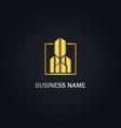 building company gold logo vector image vector image