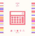 calculator symbol icon vector image
