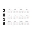 Calendar 2016 year on Spanish language A4 sheet vector image