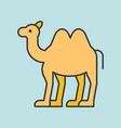camel filled outline icon vector image vector image