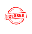 Closed offer rubber stamp on white vector image