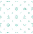 coin icons pattern seamless white background vector image vector image