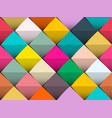 colorful seamless background with retro squares vector image vector image