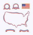 Colors of USA vector image vector image