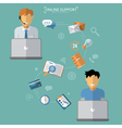 Concept of Technical Online Support vector image vector image