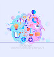 creative concept knowledges in our mind vector image vector image
