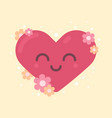 cute heart character for valentines holiday vector image