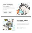 ecuador flyer design vector image vector image