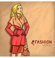 Elegant fashionable lady vector image vector image
