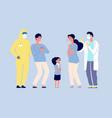 epidemic concept virus disease doctors protect vector image vector image