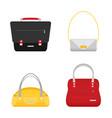 Fashion bags set isolated flat design