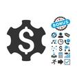 Financial Settings Flat Icon with Bonus vector image vector image