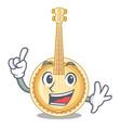 finger miniature banjo in the cartoon shapes vector image