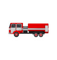 fire truck emergency vehicle side view vector image vector image