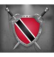 Flag of Trinidad and Tobago Medieval Background vector image vector image