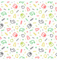 flat outline christmas seamless pattern vector image vector image