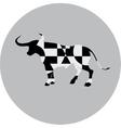 geometric bull sign vector image vector image
