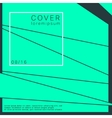 geometry cover brochure vector image vector image