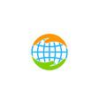globe care logo icon design vector image