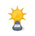 golden award trophy of star shape vector image