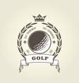 golf tournament emblem or blazon - ball vector image
