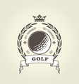 golf tournament emblem or blazon - golf ball vector image vector image