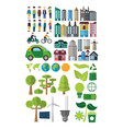 green energy and city collection vector image