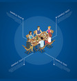 group of friends on barbecue vector image vector image