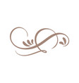 hand drawn calligraphic floral spring flourish vector image vector image